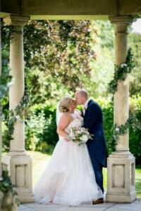 Bride and groom at Wentbridge House Hotel in Pontefract