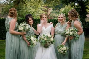 Bridesmaids fun shot at Wentbridge House Hotel